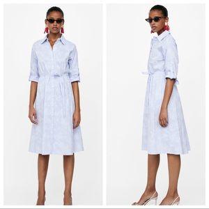 NWOT. Zara striped shirt dress. Size M.